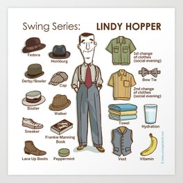 SWING SERIES: LINDY HOPPER Art Print
