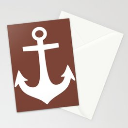 Anchor (White & Brown) Stationery Cards