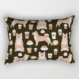 Shiba Inu dog breed coffee pupuccino pure breed doggo gifts Rectangular Pillow