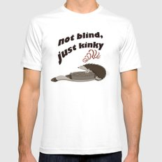 Not blind, just kinky! MEDIUM White Mens Fitted Tee