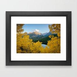 BEAR LAKE COLORADO AUTUMN ROCKY MOUNTAIN NATIONAL PARK FALL LANDSCAPE PHOTOGRAPHY Framed Art Print