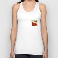 poland Tank Tops featuring STICKER OF POLAND flag by Lulla