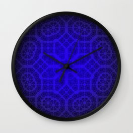 Blue Octogon Star Wall Clock
