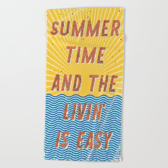 Summertime - A Hell Songbook Edition Beach Towel