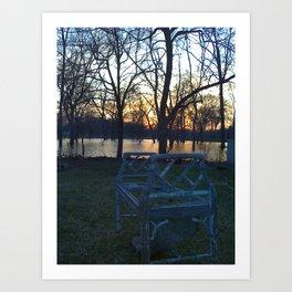 Bench Art Print