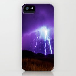 Foothills Lightning iPhone Case