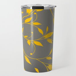FLOWERY VINES | grey yellow Travel Mug