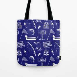 Gone Fishing // Midnight Blue Tote Bag