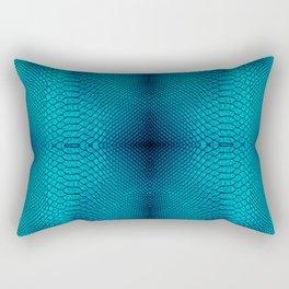 Blue cobra skin for decor, t-shirt, pillows, tapestry etc Rectangular Pillow