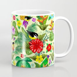 Birds and Nature Floral Exotic Seamless Pattern Coffee Mug