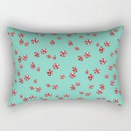 Peppermint Candy in Aqua Rectangular Pillow