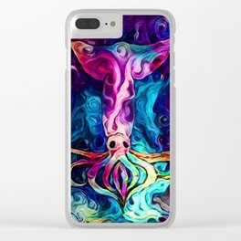 Celestial Squid Reimagined Clear iPhone Case