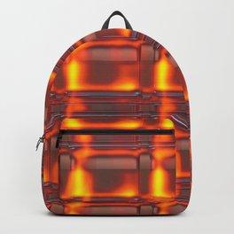 Vintage orange red metal Backpack