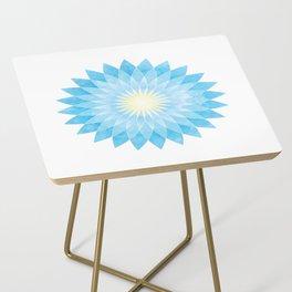 Lotus Flower Mandala Side Table