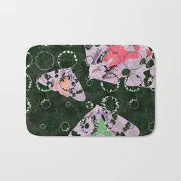 Flowers and Moths Bath Mat