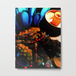 Good Luck Ladybugs Necklace Still Life Metal Print
