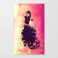 breaking Canvas Prints featuring Breaking by Roslyn Erinn Abbedonn