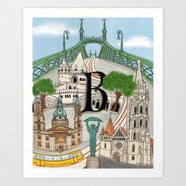 Budapest Illustration  Art Print