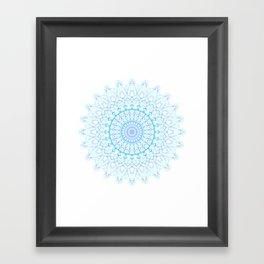 Snowflake #003 transparent Framed Art Print