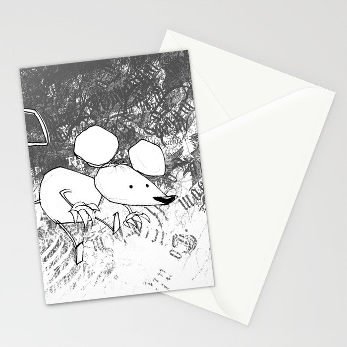 minima - deco mouse Stationery Cards
