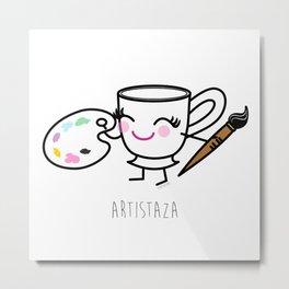 Artistaza - Artist cup Metal Print