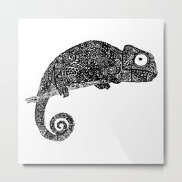 Complex Chameleon Metal Print