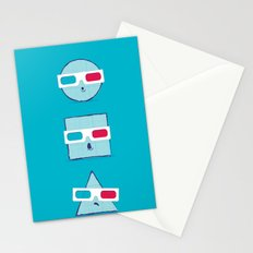 3D Shapes Stationery Cards