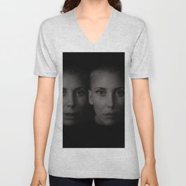 Twin sisters Unisex V-Neck