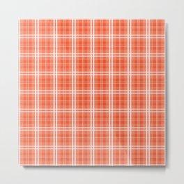 Spring 2017 Colors Flame Orange Red Tartan Plaid Metal Print