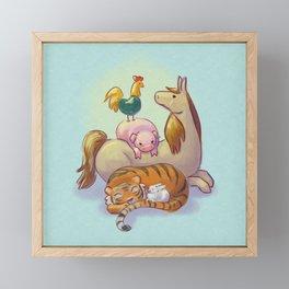 Zodiac Family Portrait Framed Mini Art Print