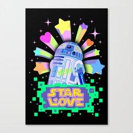 R2-D2 Star Love Canvas Print