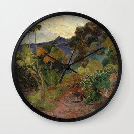 Paul Gauguin - Martinique Landscape. Wall Clock