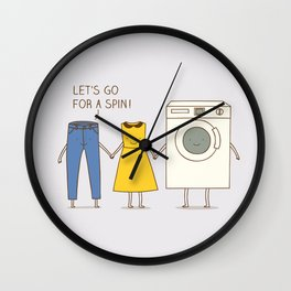 Let's go for a spin! Wall Clock