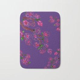 Sakura Branch Painting Bath Mat