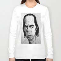 nick cave Long Sleeve T-shirts featuring Nick Cave by Mr Shins