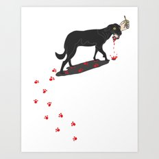 The Black Dog Art Print