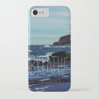 breathe iPhone & iPod Cases featuring Breathe by Leah Flores