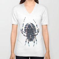 spider V-neck T-shirts featuring Spider by Bor Cvetko