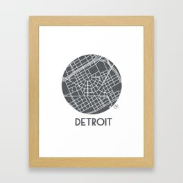 Detroit Medallion Framed Art Print