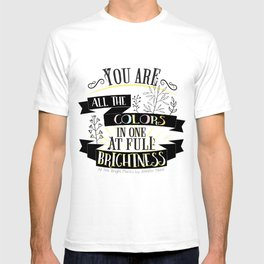 All The Bright Places by Jennifer Niven Book Quote Typography T-shirt