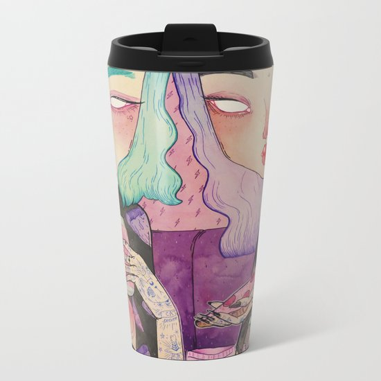 Pizza Party Metal Travel Mug
