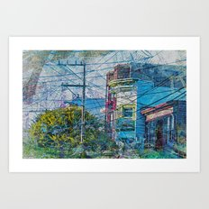 Linked out Victorians in Mission District sfc Art Print