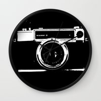 camera Wall Clocks featuring Camera by Maressa Andrioli