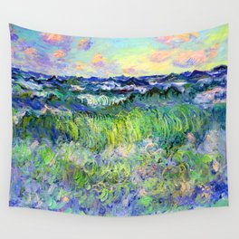 Claude Monet Sea at Pourville Wall Tapestry