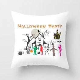 Halloween Party Throw Pillow