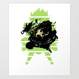 Broly the Legendary Super Saiyan Fighter of the Universe Art Print