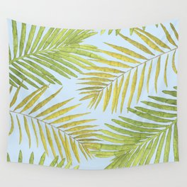 Palms Against the Sky Wall Tapestry