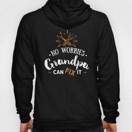 No Worries Grandpa Can Fix It Tools DIY Grandad Gift Hoody
