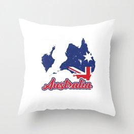 Football Worldcup Australian Aussie Australia Soccer Team Sports Footballer Rugby Gift Throw Pillow