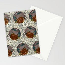 hare tortoise mandala Stationery Cards
